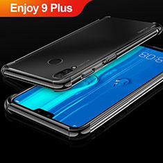 Custodia Silicone Trasparente Ultra Sottile Cover Morbida H03 per Huawei Enjoy 9 Plus Nero