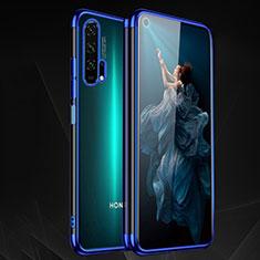 Custodia Silicone Trasparente Ultra Sottile Cover Morbida H03 per Huawei Honor 20 Pro Blu