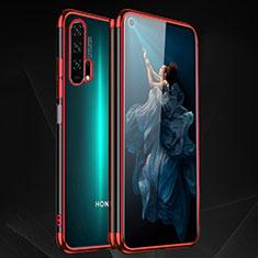 Custodia Silicone Trasparente Ultra Sottile Cover Morbida H03 per Huawei Honor 20 Pro Rosso
