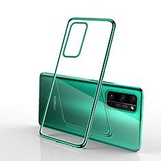 Custodia Silicone Trasparente Ultra Sottile Cover Morbida H03 per Huawei Honor 30 Pro+ Plus Verde