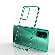 Custodia Silicone Trasparente Ultra Sottile Cover Morbida H03 per Huawei Honor 30 Pro Verde