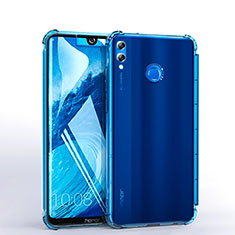 Custodia Silicone Trasparente Ultra Sottile Cover Morbida H03 per Huawei Honor 8X Max Cielo Blu