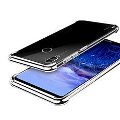 Custodia Silicone Trasparente Ultra Sottile Cover Morbida H03 per Huawei Honor Note 10 Argento