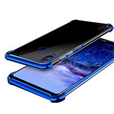 Custodia Silicone Trasparente Ultra Sottile Cover Morbida H03 per Huawei Honor Note 10 Blu