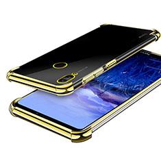 Custodia Silicone Trasparente Ultra Sottile Cover Morbida H03 per Huawei Honor Note 10 Oro