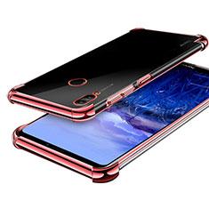 Custodia Silicone Trasparente Ultra Sottile Cover Morbida H03 per Huawei Honor Note 10 Oro Rosa
