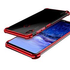 Custodia Silicone Trasparente Ultra Sottile Cover Morbida H03 per Huawei Honor Note 10 Rosso