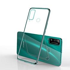 Custodia Silicone Trasparente Ultra Sottile Cover Morbida H03 per Huawei Honor Play4T Verde