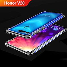 Custodia Silicone Trasparente Ultra Sottile Cover Morbida H03 per Huawei Honor View 20 Nero