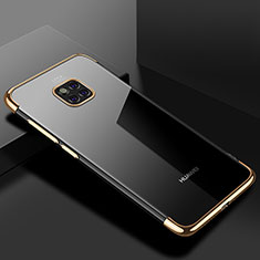 Custodia Silicone Trasparente Ultra Sottile Cover Morbida H03 per Huawei Mate 20 Pro Oro