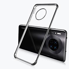 Custodia Silicone Trasparente Ultra Sottile Cover Morbida H03 per Huawei Mate 30 5G Nero