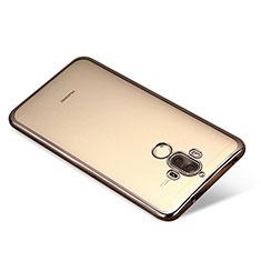 Custodia Silicone Trasparente Ultra Sottile Cover Morbida H03 per Huawei Mate 9 Nero