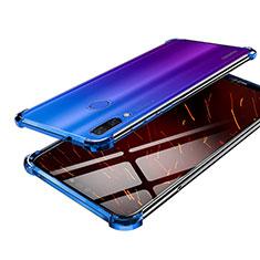 Custodia Silicone Trasparente Ultra Sottile Cover Morbida H03 per Huawei Nova 3 Blu