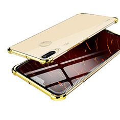 Custodia Silicone Trasparente Ultra Sottile Cover Morbida H03 per Huawei Nova 3 Oro