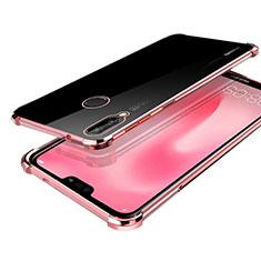 Custodia Silicone Trasparente Ultra Sottile Cover Morbida H03 per Huawei Nova 3 Oro Rosa
