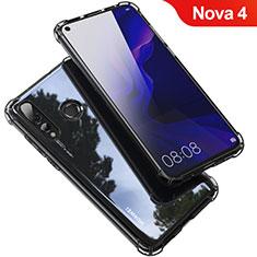 Custodia Silicone Trasparente Ultra Sottile Cover Morbida H03 per Huawei Nova 4 Grigio