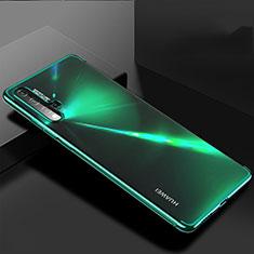 Custodia Silicone Trasparente Ultra Sottile Cover Morbida H03 per Huawei Nova 5 Verde