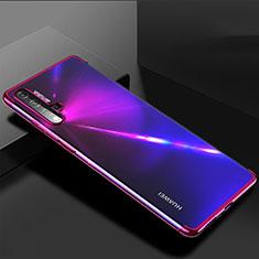 Custodia Silicone Trasparente Ultra Sottile Cover Morbida H03 per Huawei Nova 5 Viola