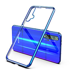 Custodia Silicone Trasparente Ultra Sottile Cover Morbida H03 per Huawei Nova 5T Blu