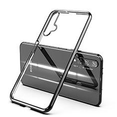Custodia Silicone Trasparente Ultra Sottile Cover Morbida H03 per Huawei Nova 5T Nero