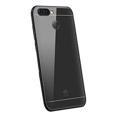 Custodia Silicone Trasparente Ultra Sottile Cover Morbida H03 per Huawei P Smart Nero