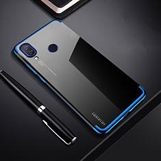 Custodia Silicone Trasparente Ultra Sottile Cover Morbida H03 per Huawei P Smart+ Plus Blu