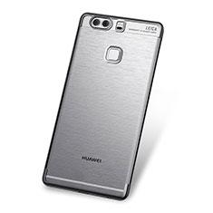 Custodia Silicone Trasparente Ultra Sottile Cover Morbida H03 per Huawei P9 Grigio