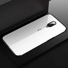 Custodia Silicone Trasparente Ultra Sottile Cover Morbida H03 per OnePlus 6T Nero