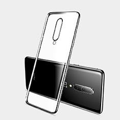 Custodia Silicone Trasparente Ultra Sottile Cover Morbida H03 per OnePlus 7 Pro Nero