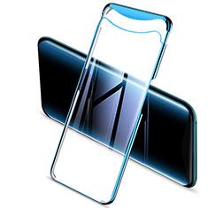 Custodia Silicone Trasparente Ultra Sottile Cover Morbida H03 per Oppo Find X Blu