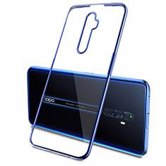 Custodia Silicone Trasparente Ultra Sottile Cover Morbida H03 per Oppo Reno2 Z Blu