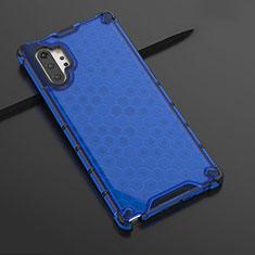 Custodia Silicone Trasparente Ultra Sottile Cover Morbida H03 per Samsung Galaxy Note 10 Plus Blu