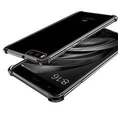 Custodia Silicone Trasparente Ultra Sottile Cover Morbida H03 per Xiaomi Mi 6 Nero