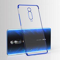 Custodia Silicone Trasparente Ultra Sottile Cover Morbida H03 per Xiaomi Mi 9T Blu