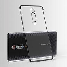 Custodia Silicone Trasparente Ultra Sottile Cover Morbida H03 per Xiaomi Mi 9T Nero