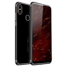 Custodia Silicone Trasparente Ultra Sottile Cover Morbida H03 per Xiaomi Mi Mix 2S Nero