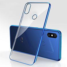 Custodia Silicone Trasparente Ultra Sottile Cover Morbida H03 per Xiaomi Mi Mix 3 Blu