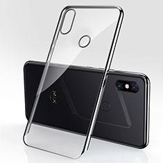 Custodia Silicone Trasparente Ultra Sottile Cover Morbida H03 per Xiaomi Mi Mix 3 Nero