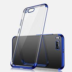 Custodia Silicone Trasparente Ultra Sottile Cover Morbida H03 per Xiaomi Mi Note 3 Blu
