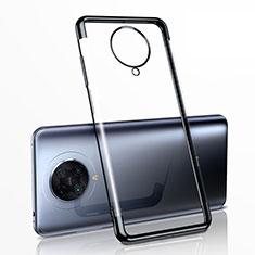 Custodia Silicone Trasparente Ultra Sottile Cover Morbida H03 per Xiaomi Redmi K30 Pro Zoom Nero
