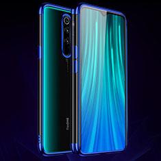 Custodia Silicone Trasparente Ultra Sottile Cover Morbida H03 per Xiaomi Redmi Note 8 Pro Blu