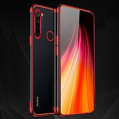 Custodia Silicone Trasparente Ultra Sottile Cover Morbida H03 per Xiaomi Redmi Note 8 Rosso