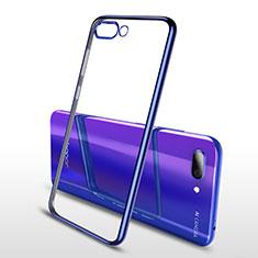 Custodia Silicone Trasparente Ultra Sottile Cover Morbida H04 per Huawei Honor 10 Blu