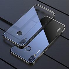 Custodia Silicone Trasparente Ultra Sottile Cover Morbida H04 per Huawei Honor 8X Nero