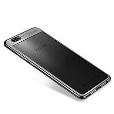 Custodia Silicone Trasparente Ultra Sottile Cover Morbida H04 per Huawei Honor V10 Nero