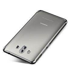 Custodia Silicone Trasparente Ultra Sottile Cover Morbida H04 per Huawei Mate 10 Argento