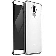 Custodia Silicone Trasparente Ultra Sottile Cover Morbida H04 per Huawei Mate 9 Argento
