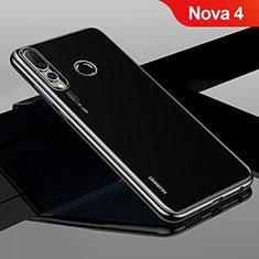 Custodia Silicone Trasparente Ultra Sottile Cover Morbida H04 per Huawei Nova 4 Nero