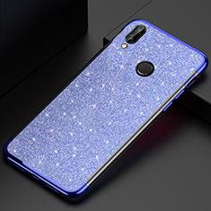 Custodia Silicone Trasparente Ultra Sottile Cover Morbida H04 per Huawei P20 Lite Blu