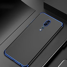 Custodia Silicone Trasparente Ultra Sottile Cover Morbida H04 per Oppo Reno Z Blu
